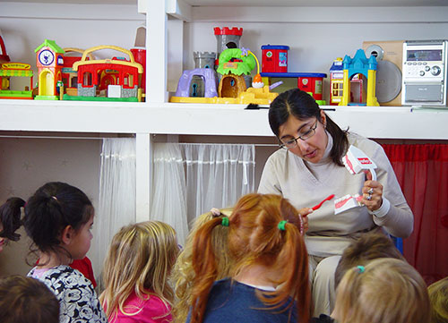 Anu teaching children